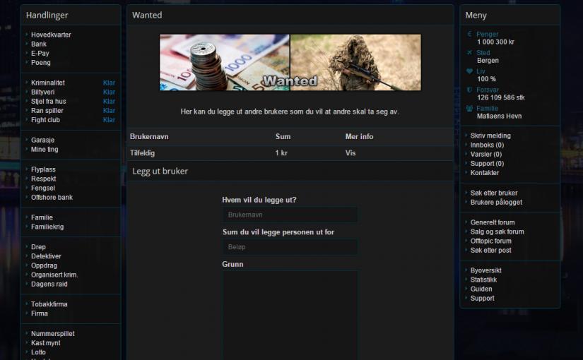 Wanted er nå fjernet fra spillet
